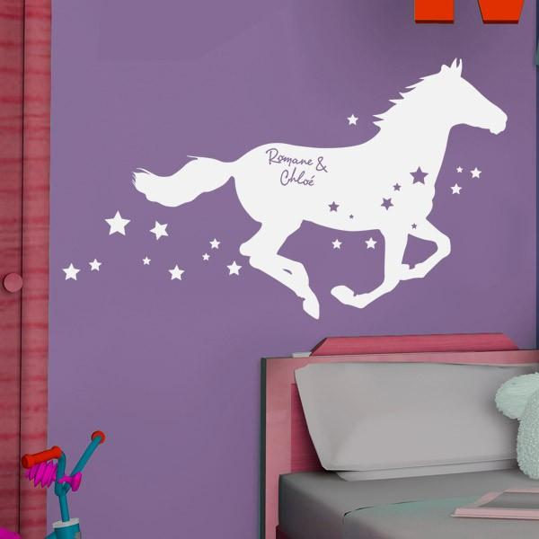 Sticker Personnalisable Cheval Etoil Stickers Center