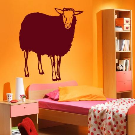 Sticker mouton stickers center for Stickers mouton chambre bebe
