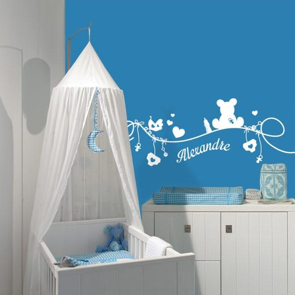 Sticker chambre b b stickers center for Stickers nounours pour chambre bebe