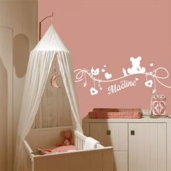 stickers pr nom personnalisable d co chambre enfant stickers center. Black Bedroom Furniture Sets. Home Design Ideas