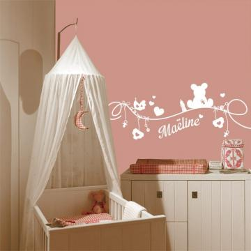 Sticker chambre b b stickers center for Stickers chambre petite fille