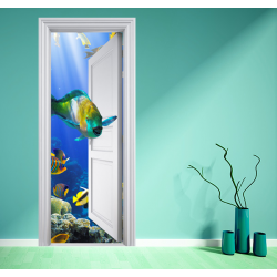 poster aquarium magique 2 stickers center. Black Bedroom Furniture Sets. Home Design Ideas