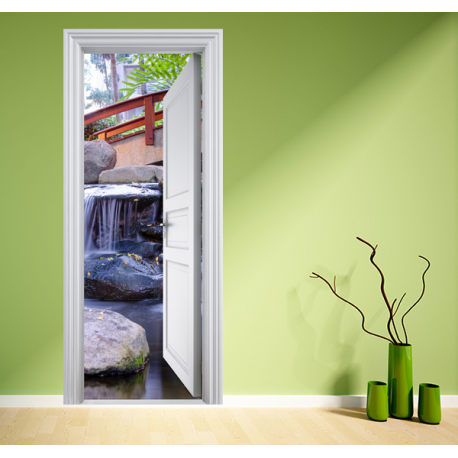 Poster jardin zen stickers center for Poster de porte zen