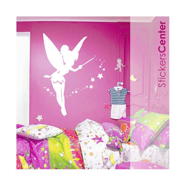 sticker f e clochette et etoiles stickers center. Black Bedroom Furniture Sets. Home Design Ideas
