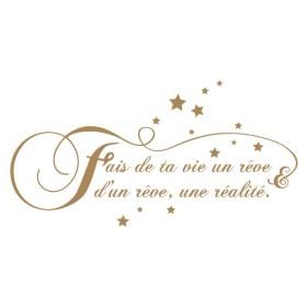 Sticker Citation Fais de ta vie un rêve 2