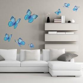 Sticker Papillons bleus