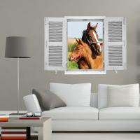 sticker cheval et poulain