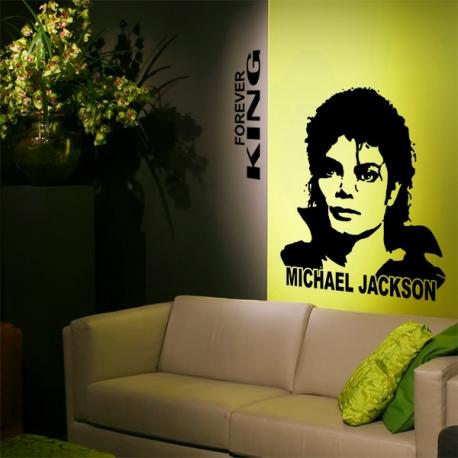 Sticker michael jackson forever king stickers center for Espectaculo forever michael jackson