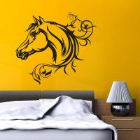 Sticker Cheval Floral 1