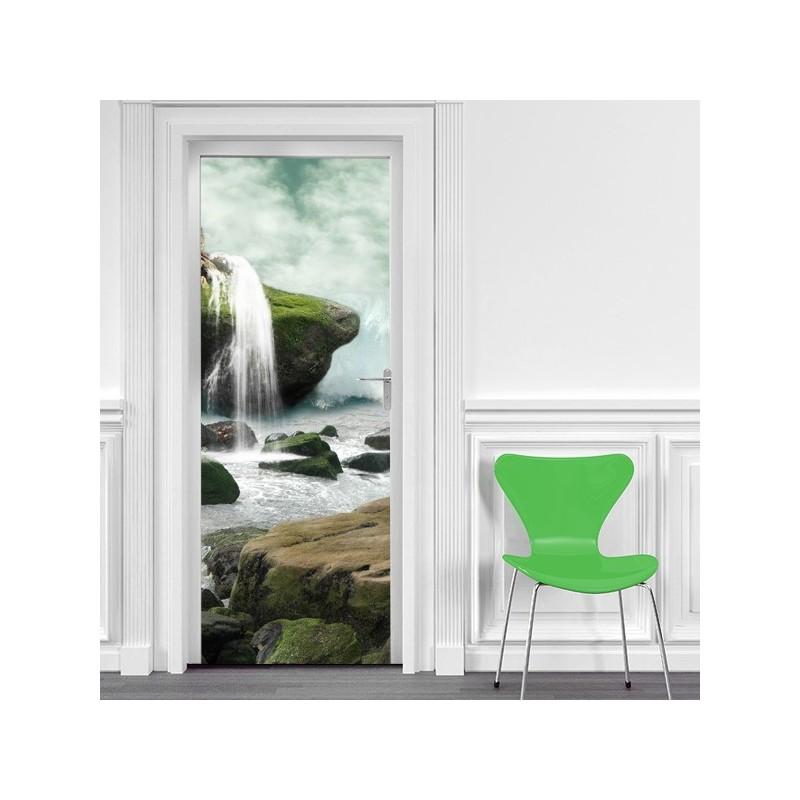 poster cascade bucolique stickers center. Black Bedroom Furniture Sets. Home Design Ideas