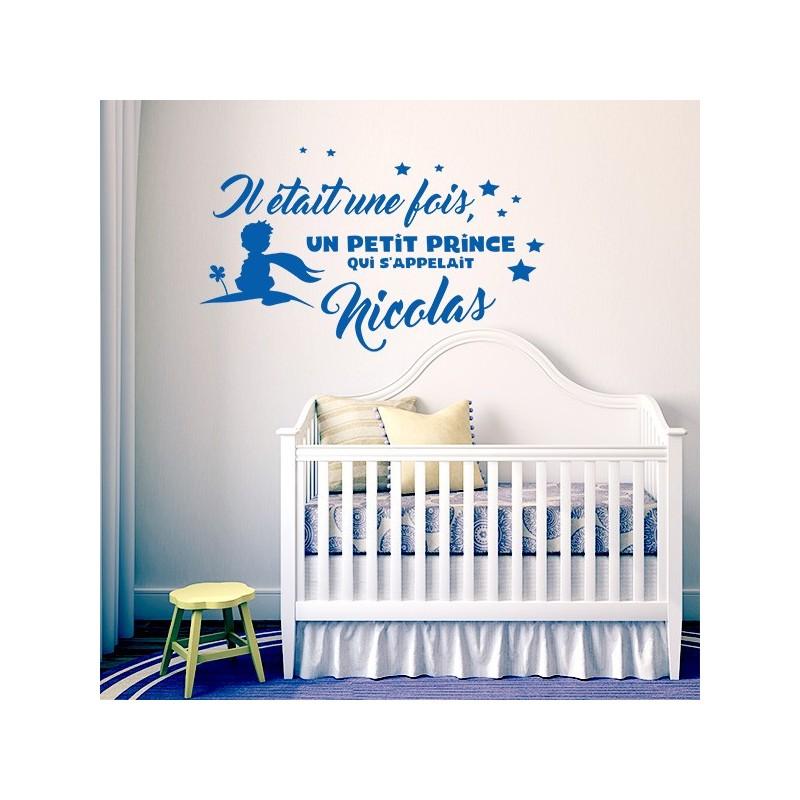 sticker personnalisable le petit prince stickers center. Black Bedroom Furniture Sets. Home Design Ideas
