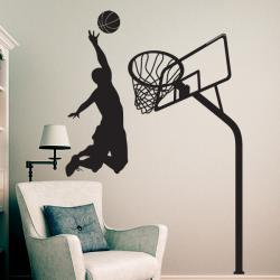 Sticker Basketteur et Panier