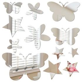 Sticker miroir papillons et étoiles