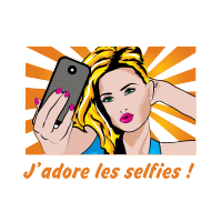 Sticker Pop art selfie
