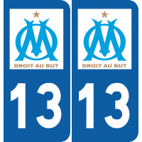Sticker Région Logo OM