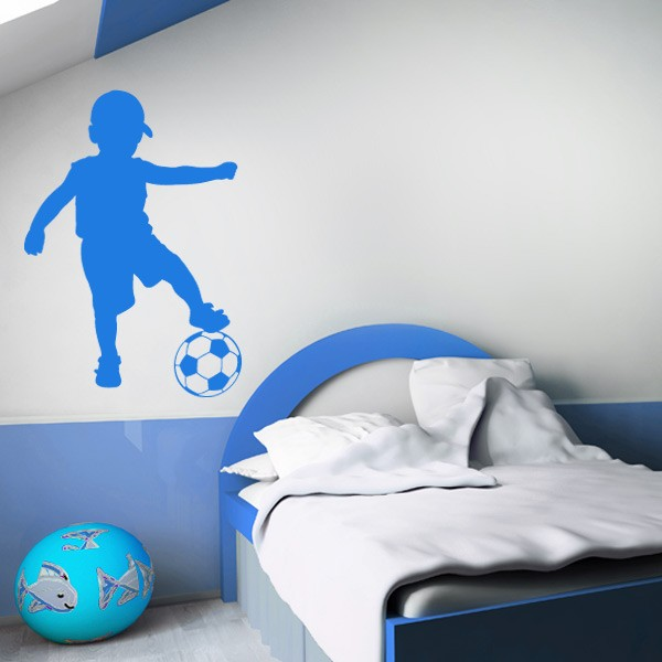 chambre enfant foot great photo deco chambre enfant avec bleu chambre garcon chambre d enfant. Black Bedroom Furniture Sets. Home Design Ideas