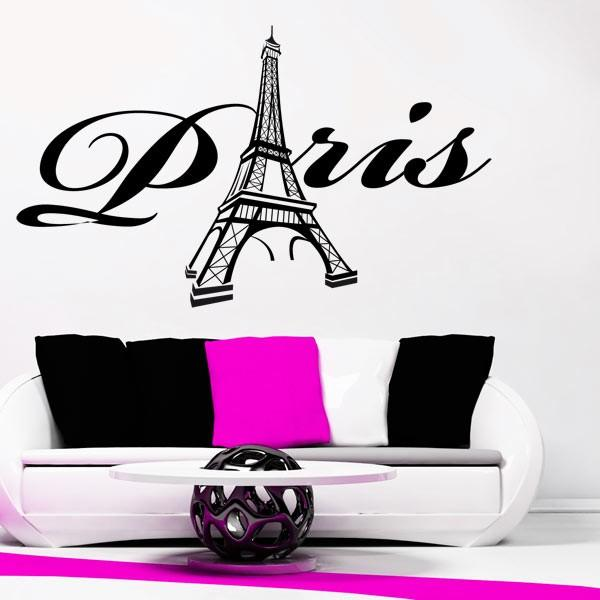 sticker paris et tour eiffel stickers center. Black Bedroom Furniture Sets. Home Design Ideas