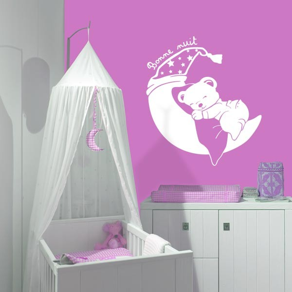 stickers chambre bebe ourson. Black Bedroom Furniture Sets. Home Design Ideas