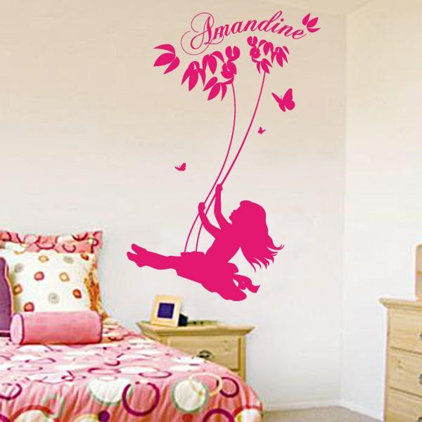 Sticker personnalisable balan oire stickers center for Stickers chambre fille