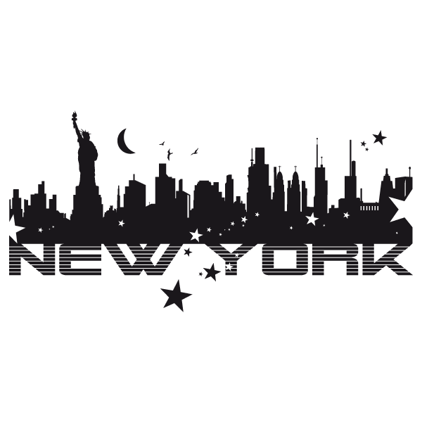 Stickers new york images - Stickers porte new york ...