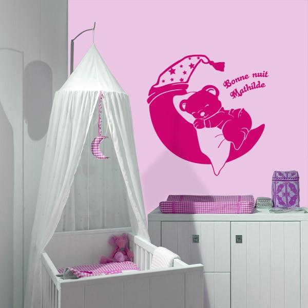 Sticker personnalisable nounours stickers center for Stickers ourson chambre bebe