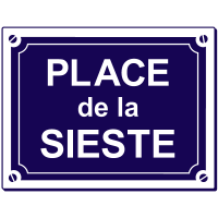 Sticker Place de la Sieste