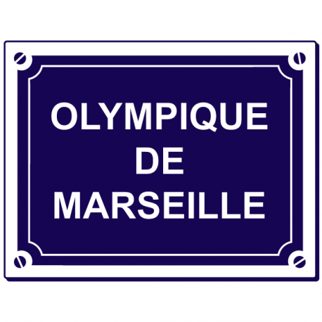 Sticker olympique de marseille stickers center for Decoration chambre olympique de marseille