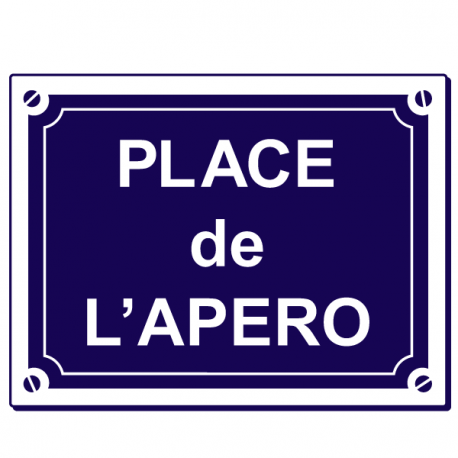 Sticker place de l 39 apero stickers center - Apero jour de l an ...