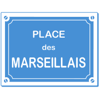 Sticker Place des Marseillais