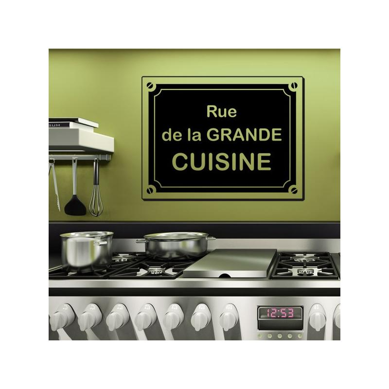Sticker rue de la grande cuisine stickers center - Rue de la cuisine caluire ...