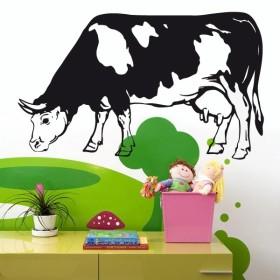 Sticker Vache tâchetée