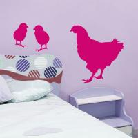 Sticker Poule et Poussins