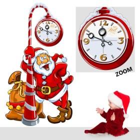 Sticker Père Noel et Horloge