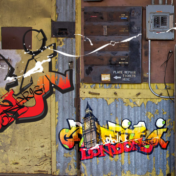 sticker Big Ben Graffiti