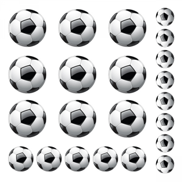 Sticker Ballons Football x 22