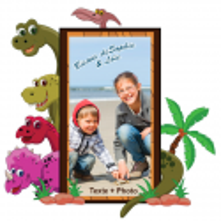 Sticker  Personnalisable cadre Dinos
