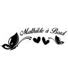 Sticker Bébé à Bord Papillons et coeurs