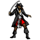 Sticker pirate Capitaine Jack