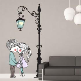 Sticker Romance et Lampadaire Deco