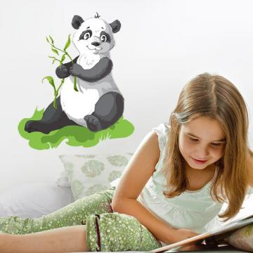 Sticker Panda et tiges de Bambou