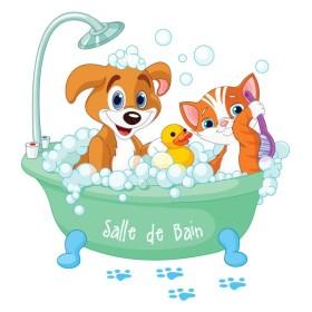 Sticker salle de Bain Ptits Loups