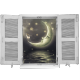 sticker au clair de lune