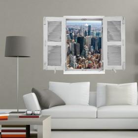 """sticker Trompe l'oeil """"New York"""""""