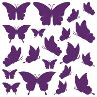 Sticker Papillons x 20
