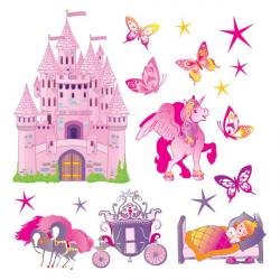 Sticker Princesse et Château