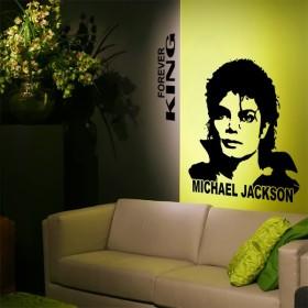 Sticker Michael Jackson Forever King