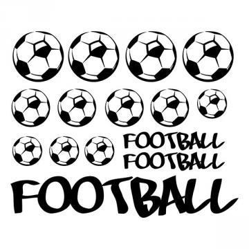 Sticker Ballons de Foot X 12 + marquage FOOTBALL