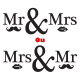 Sticker Mr & Mrs