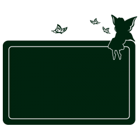 Sticker Ardoise fée et papillons
