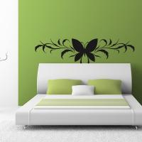Sticker Papillon Floral